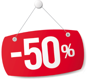 Happy hour -50% klo 16-17