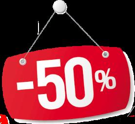Happy hour -50%! Valkealassa klo 16-17, Kouvolassa klo 17.30-18.00
